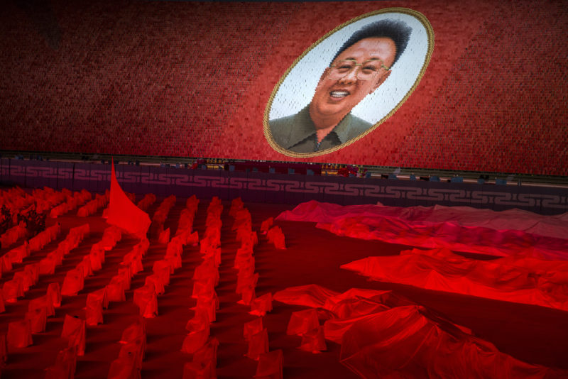 David Guttenfelder - The 70th-anniversary festivities included the Arirang Mass Games, a huge, choreographed event held at May Day Stadium in Pyongyang.