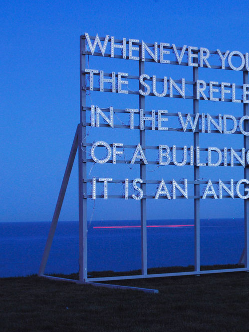 What do you think about Robert Montgomery's poem billboards?