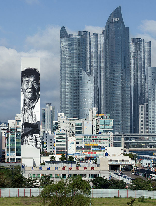 Asia's tallest mural in Busan, South Korea
