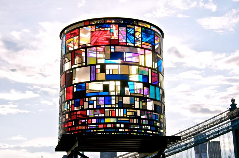 Tom Fruin – Watertower, 2010, 6x3x3m, found plexiglas, steel, bolts 2