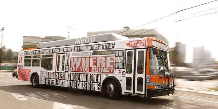 Barbara Kruger - Arts Matter bus (1)