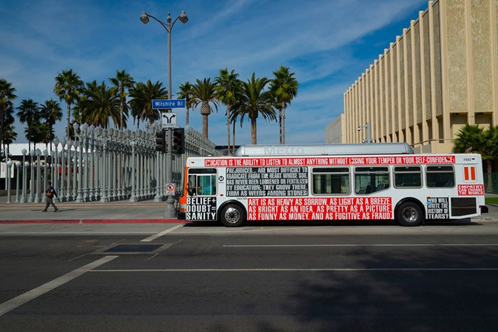 Barbara Kruger - Arts Matter bus (3)