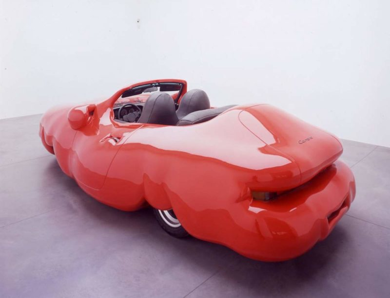 Erwin Wurm – Fat Car Convertible (Porsche) , 2005, mixed media 130 x 469 x 239 cm