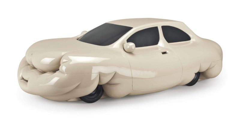 Erwin Wurm - Fat Car, 2001, metallic paint on polystyrene and polyester paint, 34.2 x 55.8 x 106.6 cm