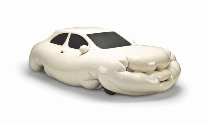 Erwin Wurm - Fat Car, 2001, metallic paint, styrofoam and polyester, 27.9 x 99 x 55.8 cm