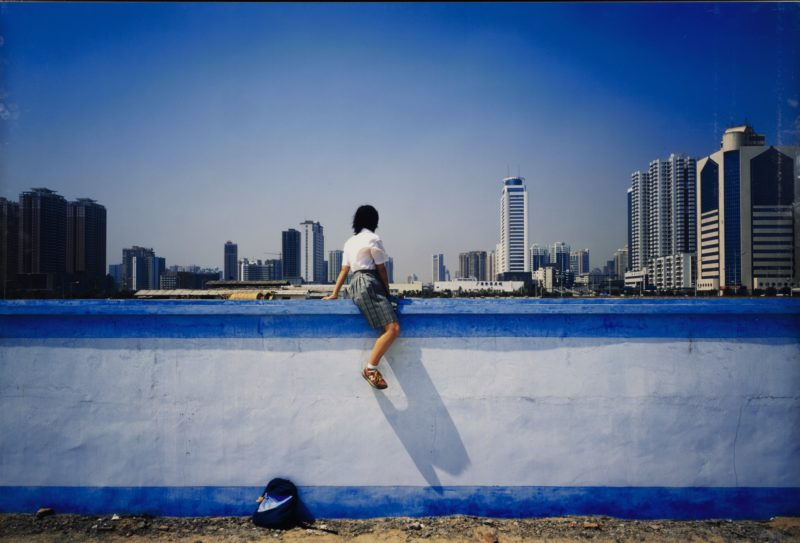 Weng Fen - Sitting on the Wall - Guangzhou 3, 2002-2003