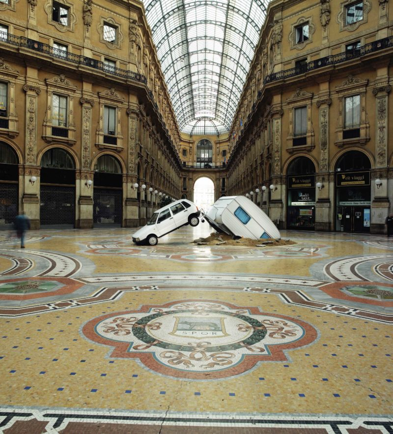 Elmgreen & Dragset – Short Cut, 2003, Mixed-media installation, 250 x 850 x 300 cm, Milan, Italy