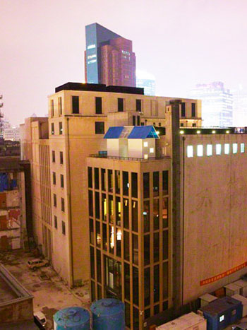 Why did Michael Lin install a complete house on a roof in Shanghai?