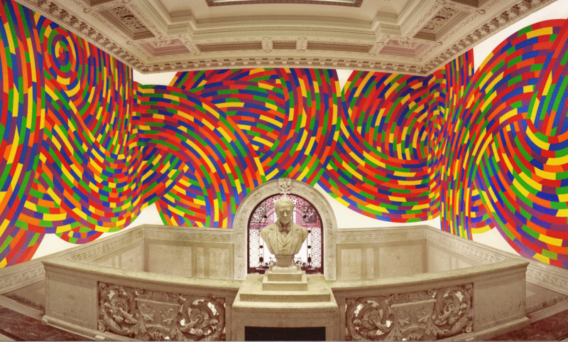 Sol LeWitt - Wall Drawing #1131, Whirls and Twirls (Wadsworth), 2004, Wadsworth Atheneum Museum of Art