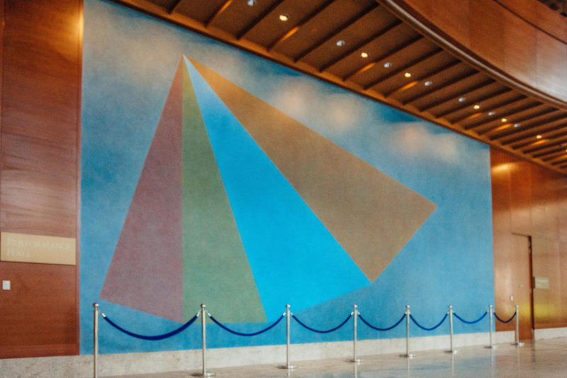 Sol LeWitt - Wall Drawing #442, Performance Hall Foyer, Yale-NUS College photo David Zhang