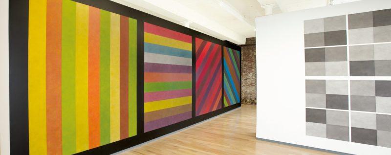 Sol LeWitt, Wall Drawing 681c, August 1993, Color ink wash
