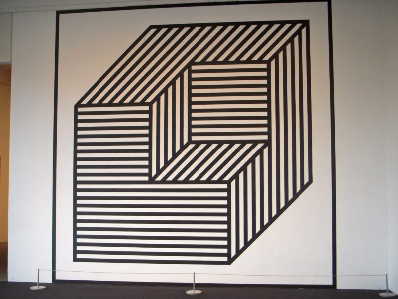 Sol Lewitt - Wall Drawing #356 BB, Cube Without a Cube