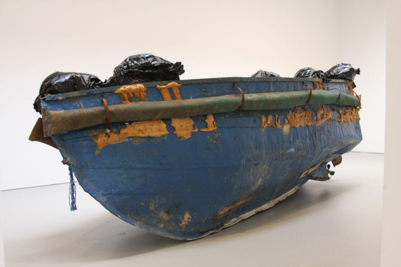 Adel Abdessemed – Hope, 2011-2012, Refugee boat and resin, 205,7 x 579,1 x 243,8 cm