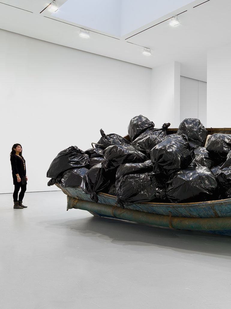 Adel Abdessemed's 'Hope' - This boat transported illegal immigrants to the US