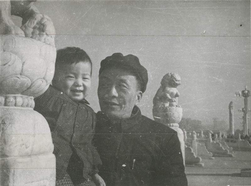 Ai Weiwei with his father Ai Qing, 1958