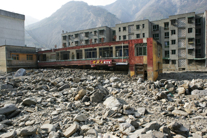 Sichuan Province after 2008 earthquake, China