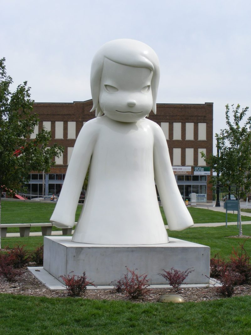 Yoshitomo Nara's White Ghost in the Pappajohn Sculpture Garden, Des Moines, IA