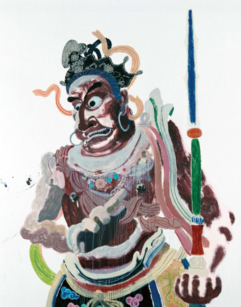 Wang Yuping - Buddha's Warrior Attendant Ha (Upper), 2011, acrylic on canvas, 190x240cm