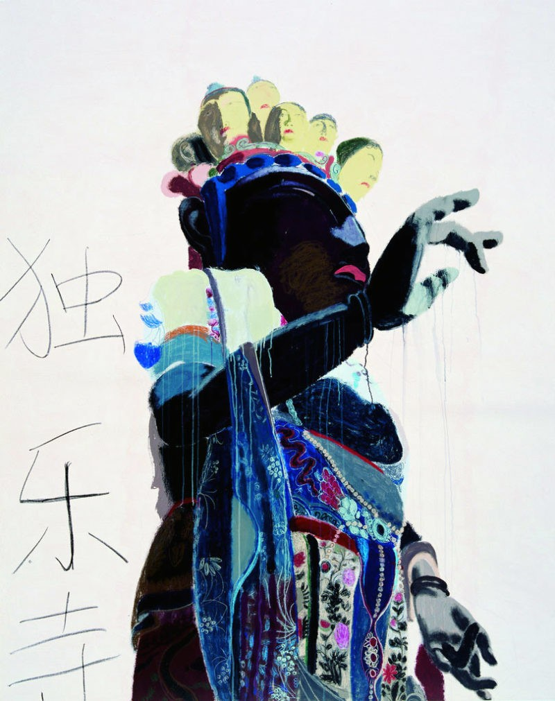 Wang Yuping - Eleven Face Guan Yin (the upper part), 2010, oil painting and acrylic, 240x190cm