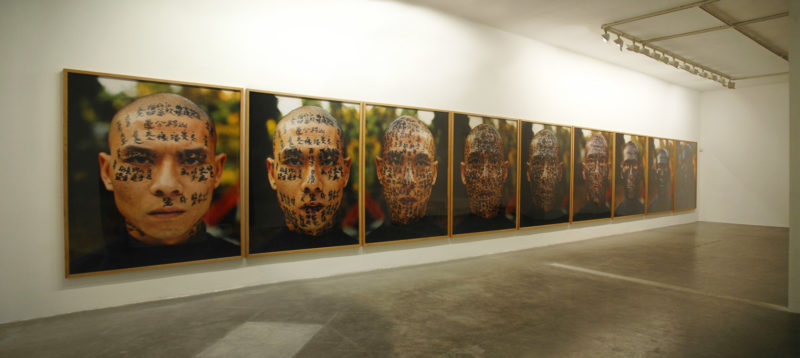 Zhang Huan - Family Tree (installation view)