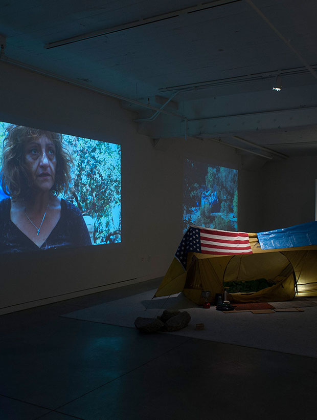 Artist lives in America's largest Tent City exhibition #2