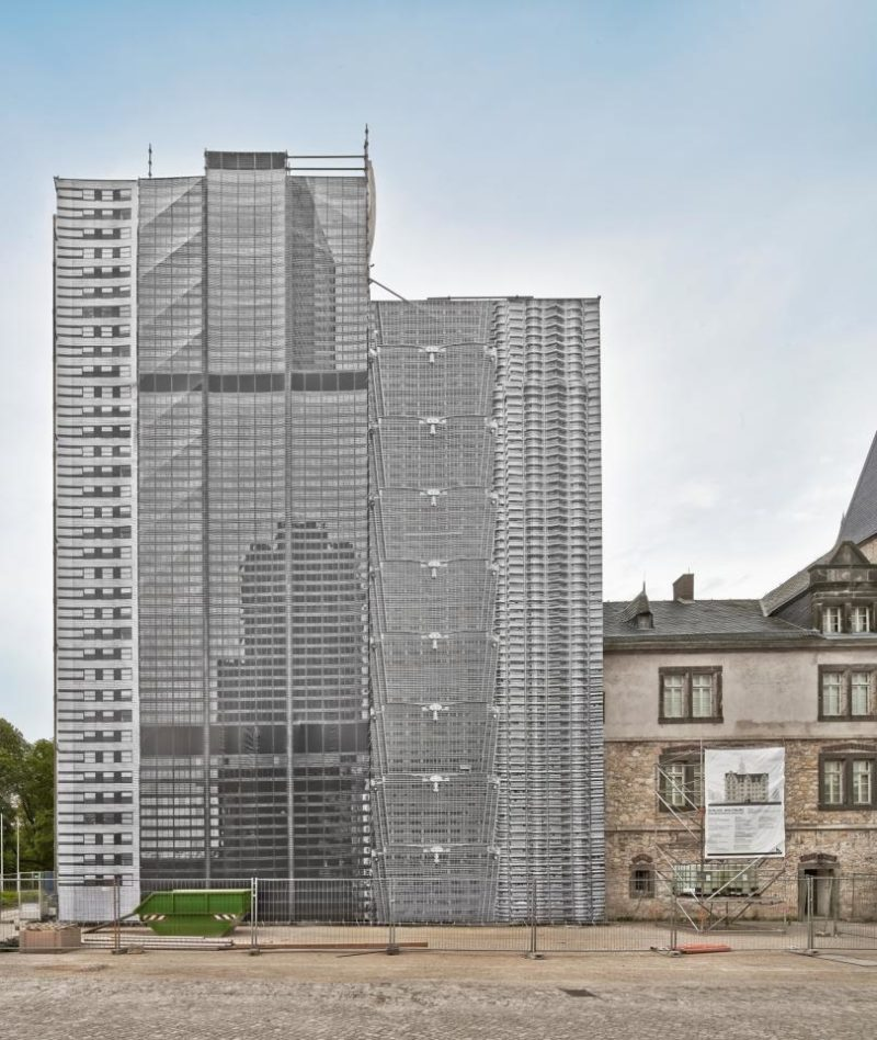 Bettina Pousttchi – The City, 2014, photo installation, 35 x 77,5 m, facade of Wolfsburg Castle