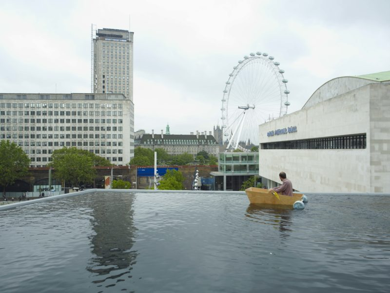 Gelitin – Normally, Proceeding and Unrestricted With Without Title, pool installed on top of Hayward Gallery, London