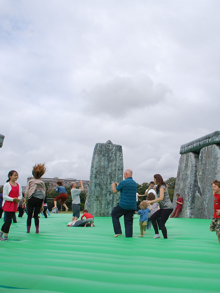 Jeremy Deller's Sacrilege - Stonehenge has never been this much fun