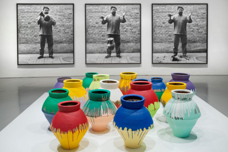 Ai Weiwei – Coloured Vases, 2006, Hirshhorn Museum and Sculpture Garden, Washington D.C., 2012