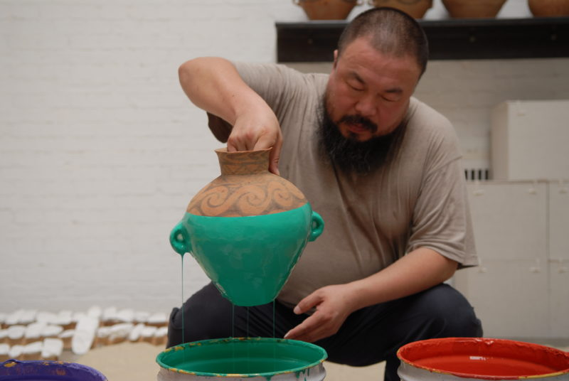 Ai Weiwei, Coloured Vases, 2006 - Portrait