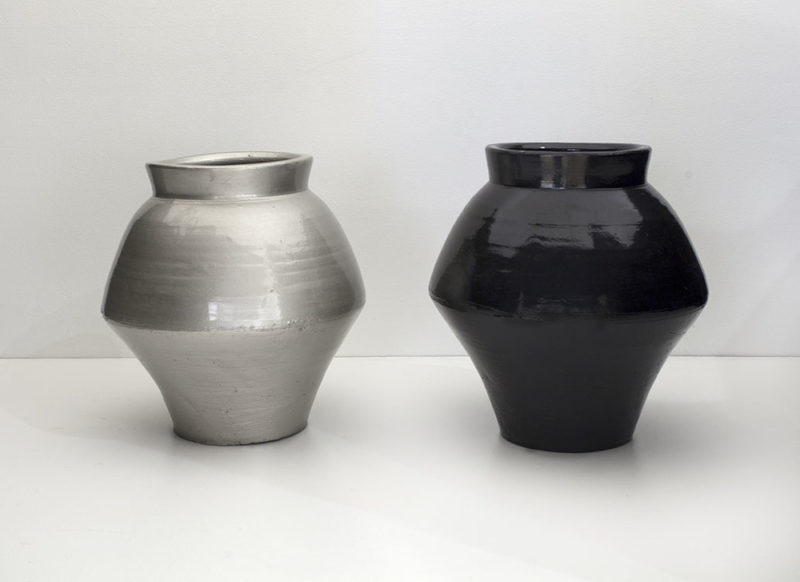 Ai Weiwei - Han Dynasty Vases in Auto Paint, 2013, Han Dynasty vases (202 BC to 220 AD) and auto paint, dimensions variable