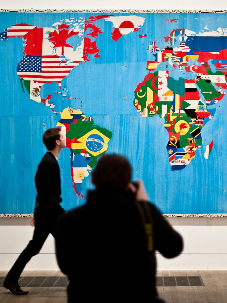 Alighiero Boetti's beautiful Maps of the World