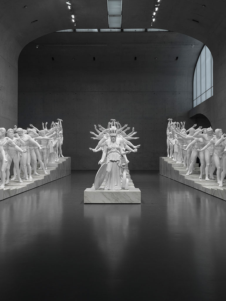 Leading Chinese artist combines 19 distinctive Western classical sculptures into one large installat...