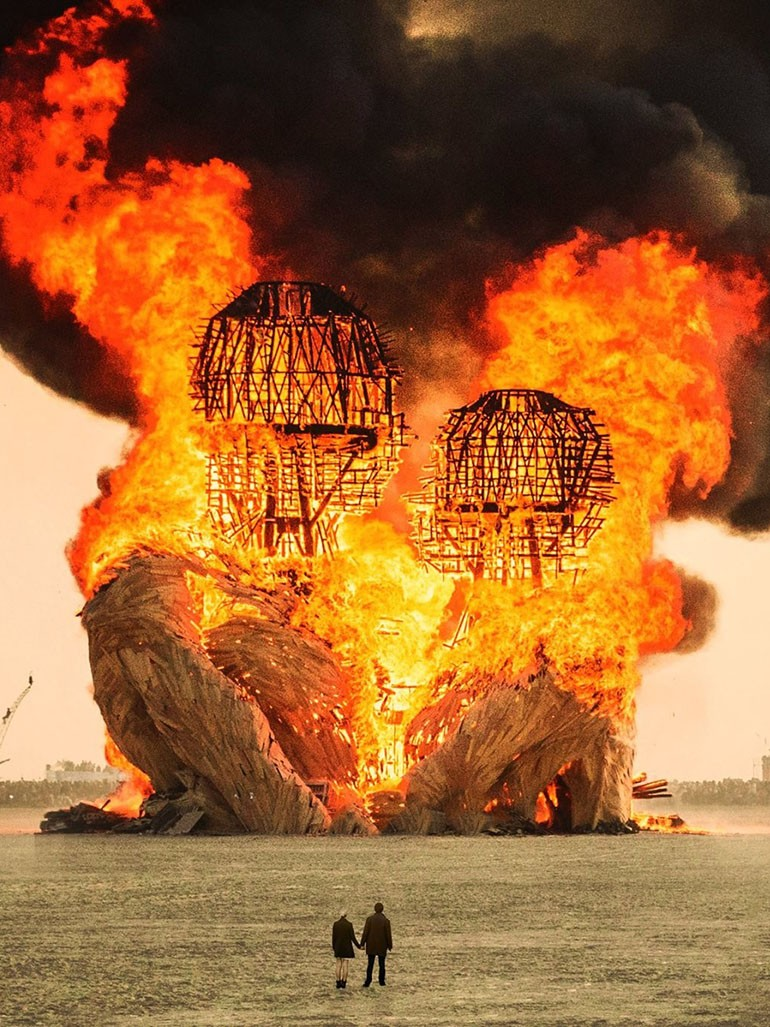This $265,000 Burning Man sculpture burned to ashes