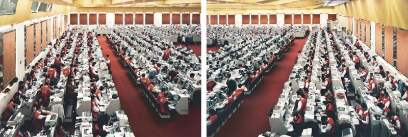 Andreas Gursky - Hong Kong, Stock Exchange, diptych, 1994