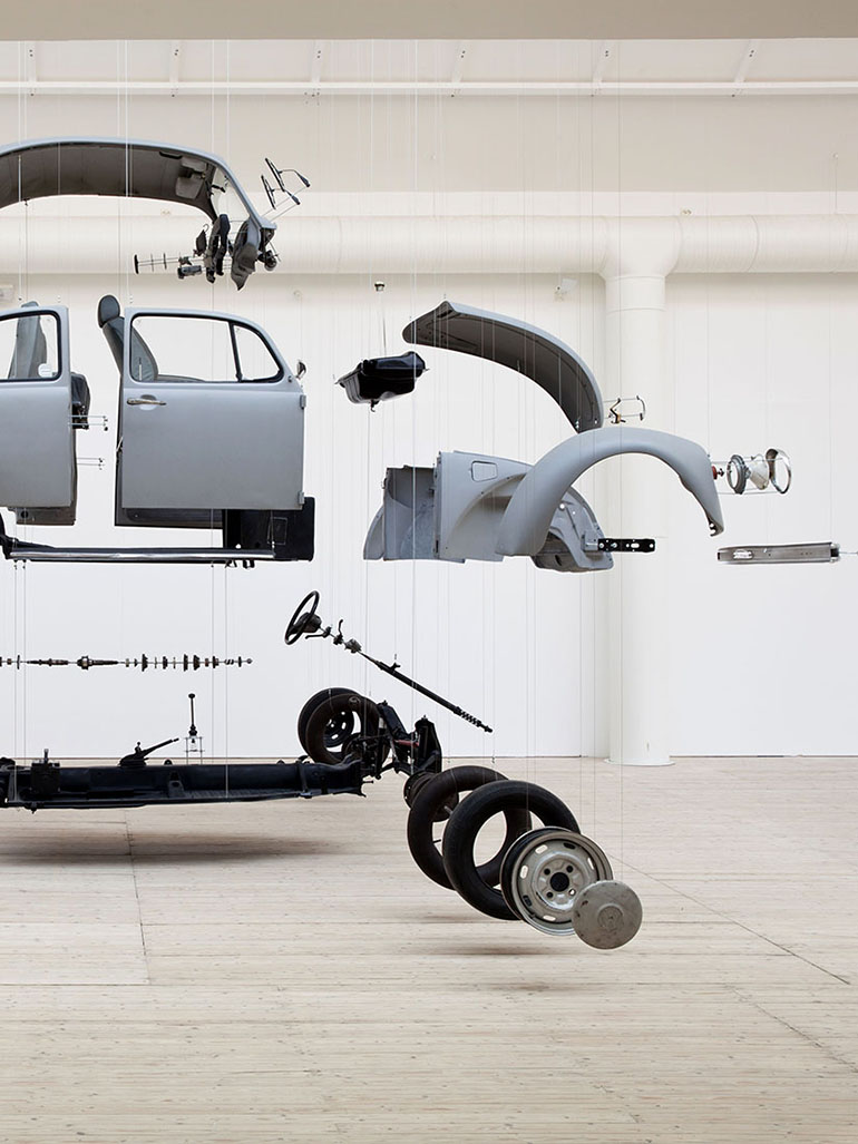 Damián Ortega's Cosmic Thing - Entire Volkswagen Beetle dissected