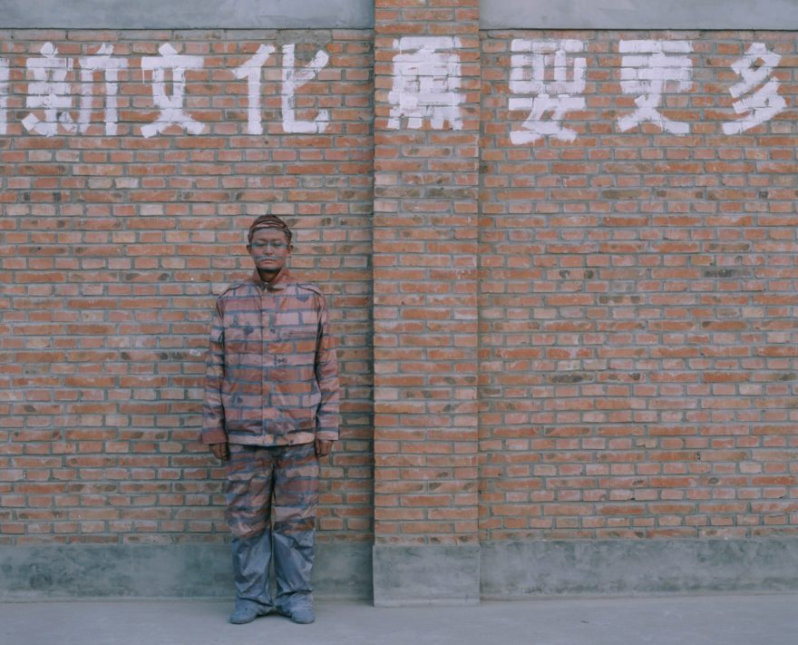Liu Bolin - Hiding in the City No. 18 – Laid Off