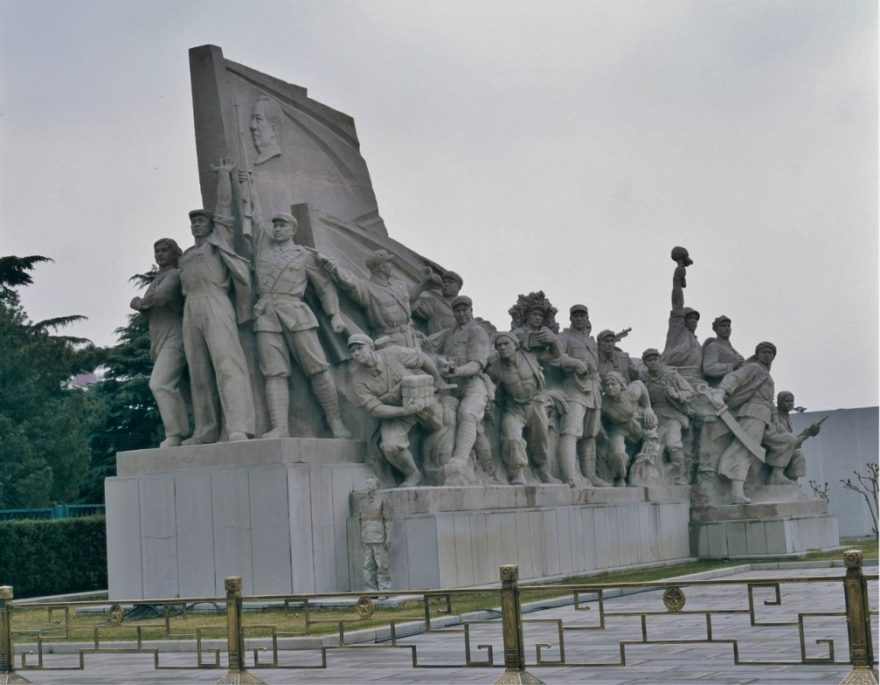 Liu Bolin - Hiding in the City No. 19 - Sculptures on the Left of Chairman Mao, 2006