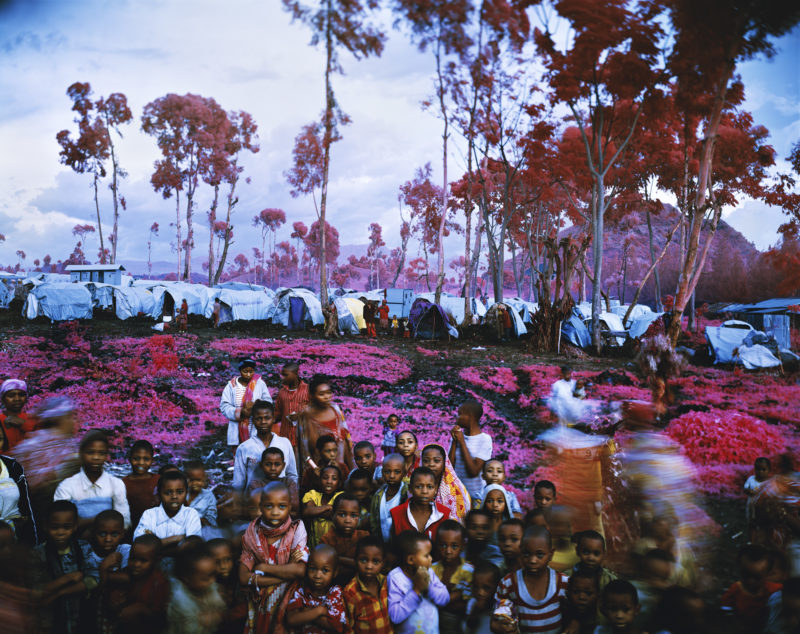 Richard Mosse - Lost Fun Zone, North Kivu, eastern Congo, 2012, digital C print, 72 x 90 inches. Courtesy of the artist and Jack Shainman Gallery