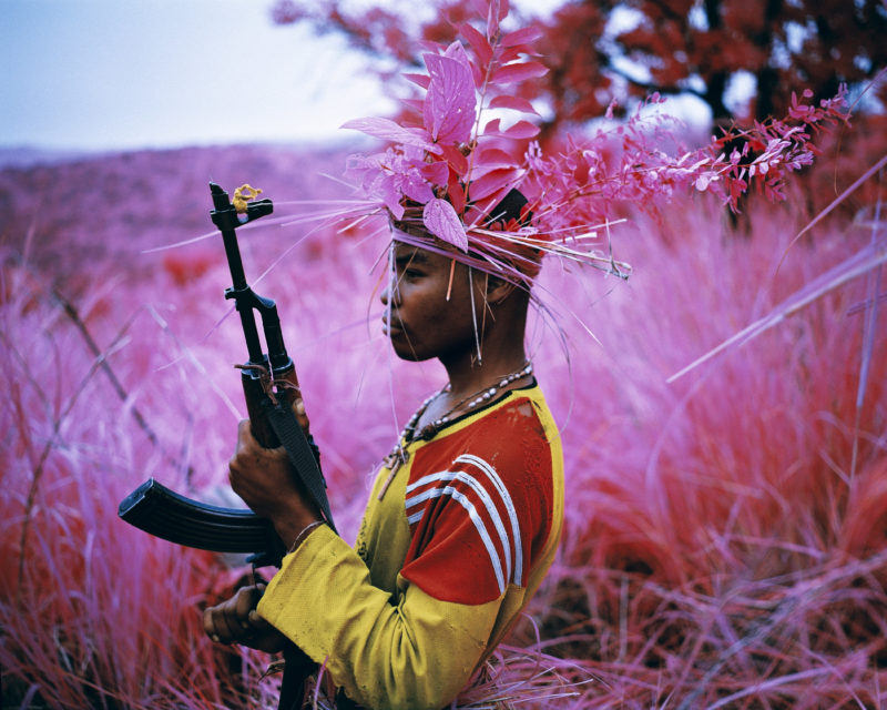 Richard Mosse - Safe From Harm, North Kivu, eastern Congo, 2012 Digital C print, 48 x 60 inches, Courtesy of the artist and Jack Shainman Gallery