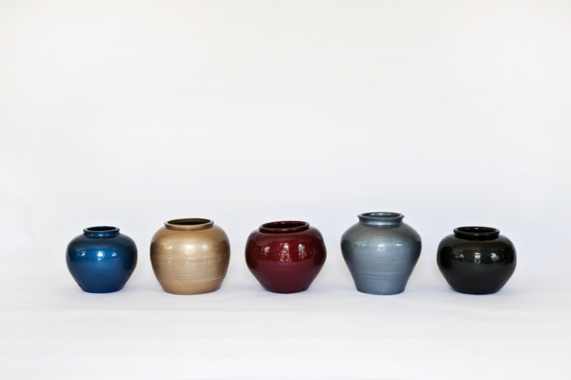 Ai Weiwei - Han Dynasty Vases in Auto Paint, 2013, Han Dynasty vases, 35.6 x 190.5 cm