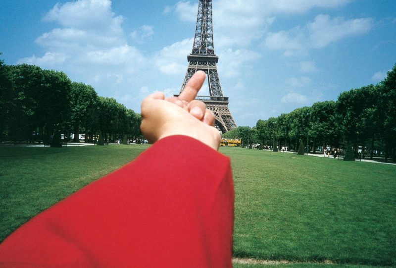 Ai Weiwei - Study of Perspective, Study of perspective - Eiffel Tower, 1999, 90x127cm