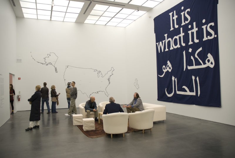 Jeremy Deller - It Is What It Is- Conversations About Iraq, at the Museum of Contemporary Art, Chicago, 2009. Photography © MCA, Chicago. Photographer, Nathan Keay