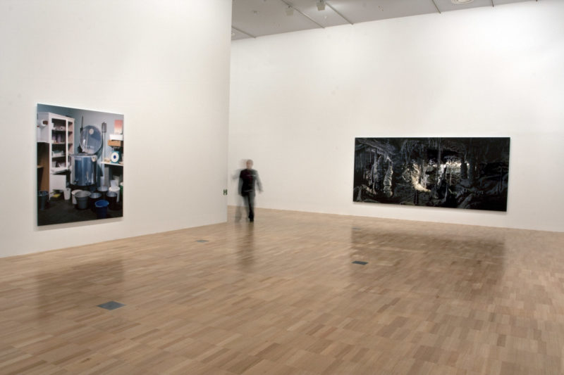 Thomas Demand - Installation at NGV National Gallery of Victoria showing, at right, Grotte : Grotto 2006