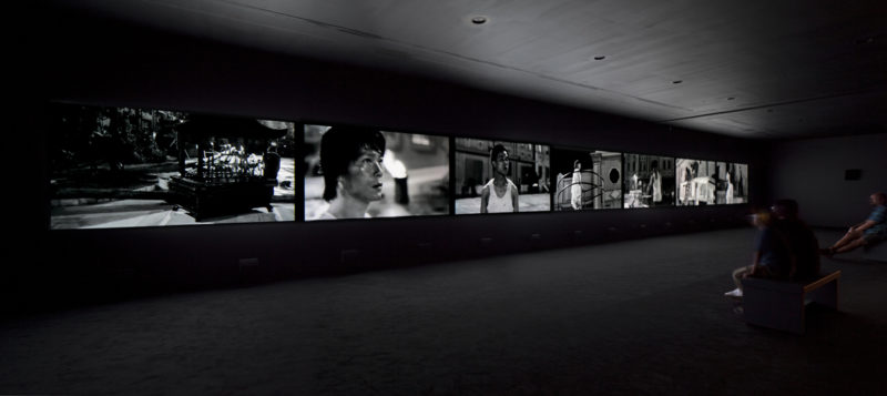 Yang Fudong - Fifth Night Part 1, 2010, installation view at Vancouver Art Gallery, 2012