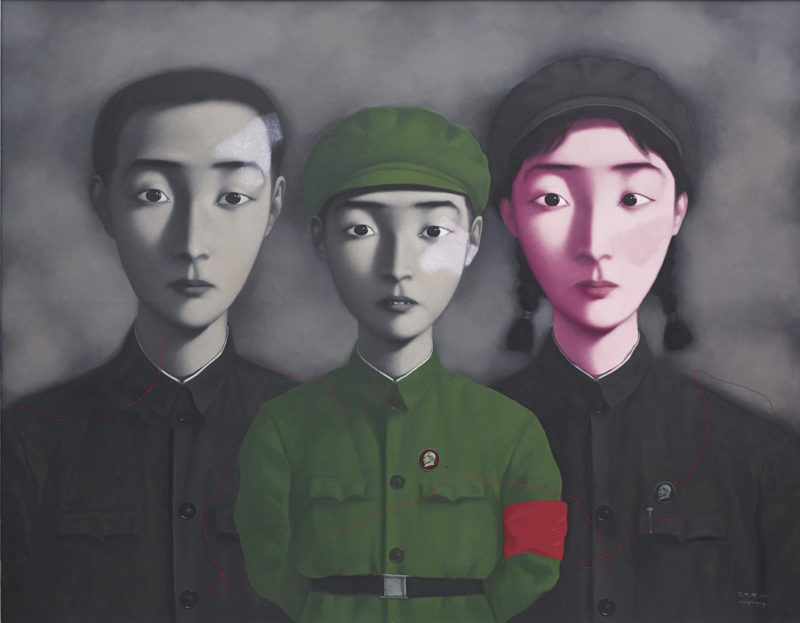 Zhang Xiaogang – Bloodline Series – Big Family No. 3, 1995, oil on canvas, 179 x 229 cm - 70½ by 90⅛ in.