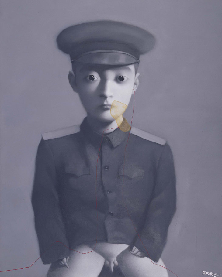 Zhang Xiaogang - Bloodline Series - My dream, Little General, 2005, Oil on canvas, 200x260cm