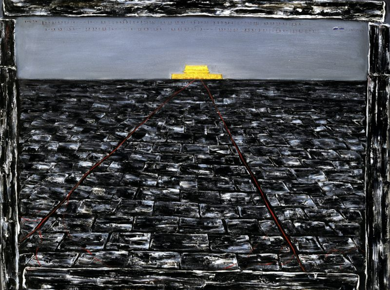 Zhang Xiaogang - Tiananmen No. 1, 1993, oil on canvas, 98.6 x 128 cm (38 7:8 by 50 3:8 in.)