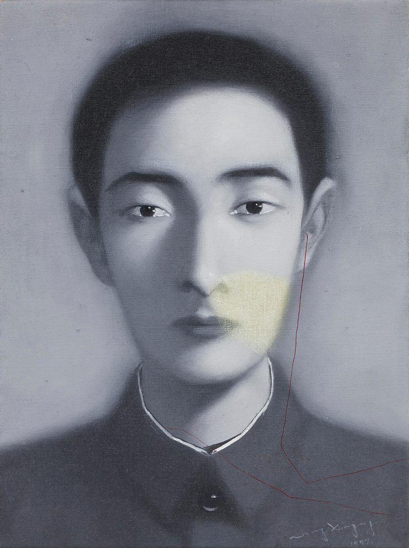 Zhang Xiaogang - Bloodline Series, 1997, oil on canvas, 40x30cm