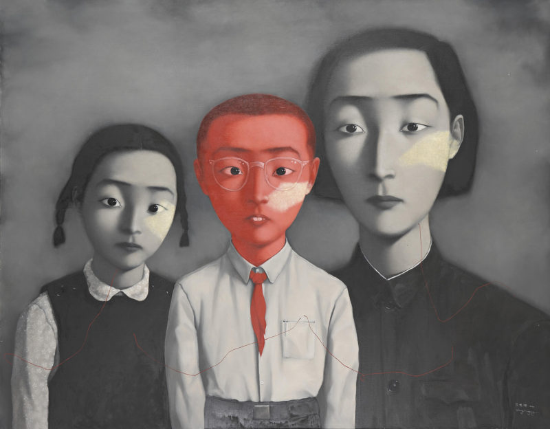 Zhang Xiaogang - Bloodline Series - Big Family, 1995, Oil on canvas, 179x229cm